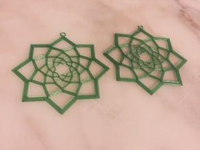 Square Geometry Earrings - Pendant