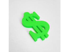 Dollar sign necklace charm (Bling/Money) with hole for a chain