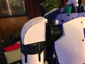 Inmoov shoulder plates in both blank and EZ robot logo