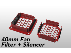 40mm Fan Filter Silencer