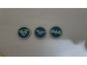 DC Comic Coins - Dual color