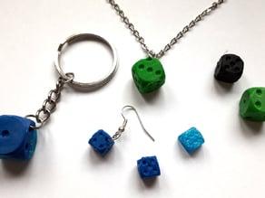 Earring with a dice - Würfelohrring
