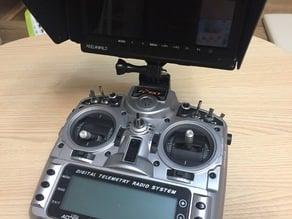 Gopro type monitor mount for Taranis X9D