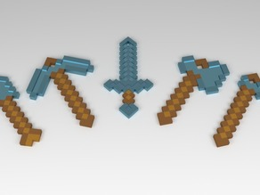 MineCraft Tool Key chains