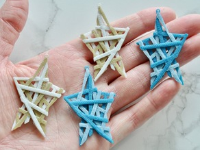 Layered Star Crisscross Earrings