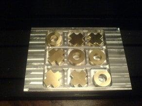 CNC milled tic-tac-toe board