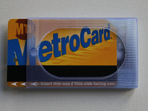 Slim Wallet with MetroCard Sliding Compartment