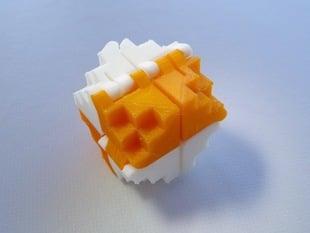 8-Bit Folding Cube for PLA