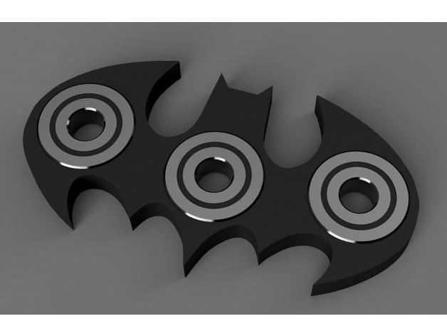 Batman Logo Spinner Fidget Toy By Q8khajah Thingiverse
