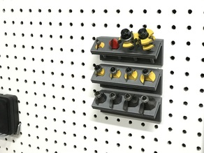 Router Bit Pegboard Caddy
