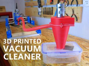 3D Printed Vacuum Cleaner For CNC Machine