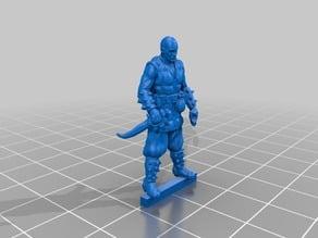 Tabletop miniature - Rogue - no cloak variant
