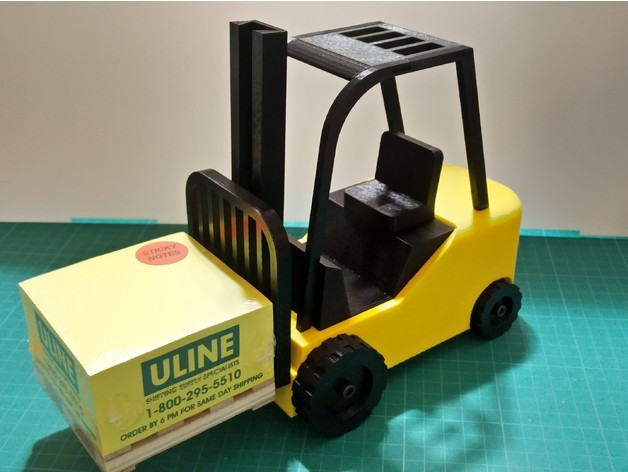 Uline Sticky Note Pallet Scale Forklift by SamPerry