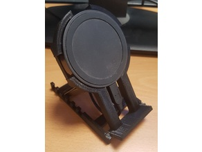 Phone Stand with space for 7cm diameter QI Charger
