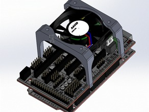 RAMPS 50mm clip on cooling fan mount