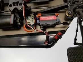 Flat servo mount for TR-SC10E