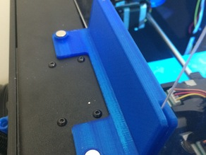 Flashforge Creator Pro rear acrylic panel holder