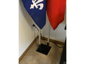 Dual Flag Pole Base