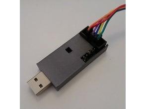 Simple USBASP board case, one part, no screws
