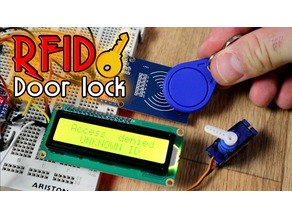 Door lock case RFID