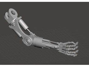 Terminator Arm (solid) forearm and hand