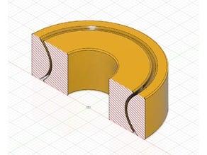 Printed bearing 608 no balls no assembly