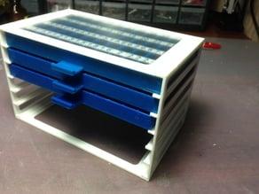 SMD resistors and capacitors boxes