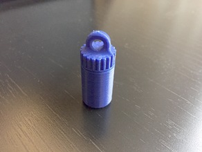 Keychain Pill Bottle - No Glue or Support