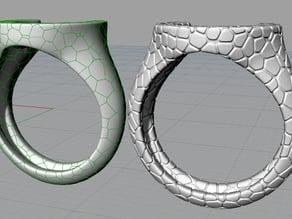 Voronoi Horseshoe ring
