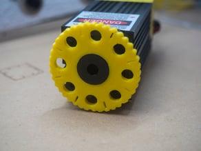 Laser focus wheel