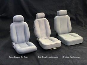 Eaglemoss Delorean 1/8 scale real seats