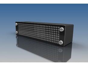 LED Matrix Uhren Gehäuse