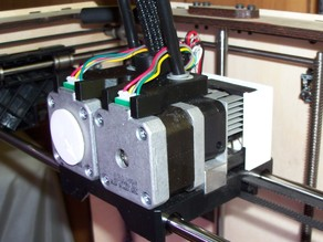 Swapping the orientation of the extruder motor/heater assembly