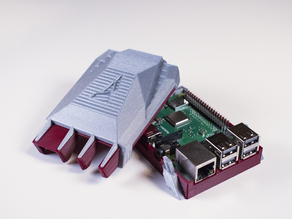 Multi-Color Raspberry Pi 3B+ Case (Mosaic Logo)
