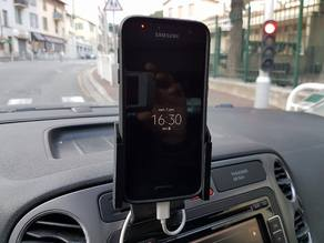 Samsung Galaxy S7 with Spigen Case Car phone Cradle for Brodit Mount