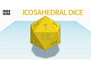 [1DAY_1CAD] ICOSAHEDRAL DICE