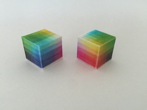 Full Color Calibration RGB Cube