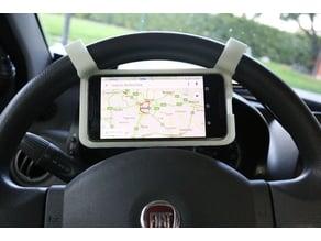 Phone Holder on steering wheel
