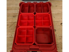 Milwaukee Packout Low Profile Organizer Bins