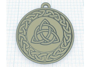 Celtic Knot Pendant or Keychain