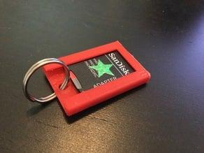SD card holder keychain