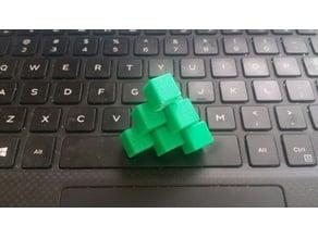 Three Piece Interlocking Tetrahedron Puzzle (Stewart Coffin)