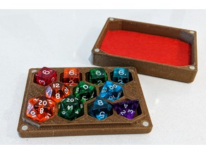 Dice Box and Tray for 11 Dice