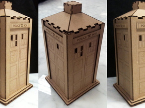 Tardis : Laser cut cardboard version