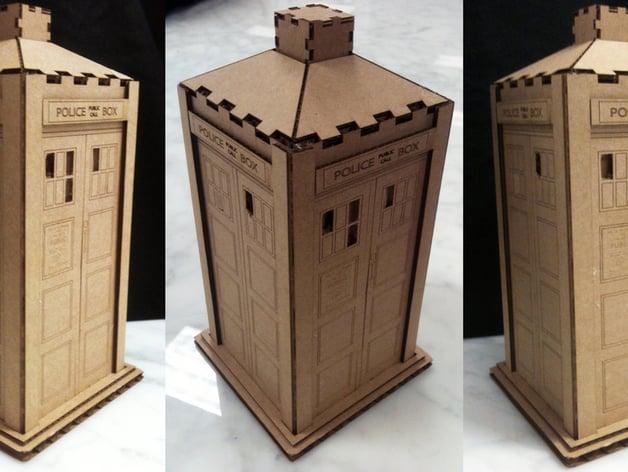 Uitzonderlijk Tardis : Laser cut cardboard version by t4obrien - Thingiverse @QT03