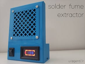 Battery Powered Solder Fume Extractor