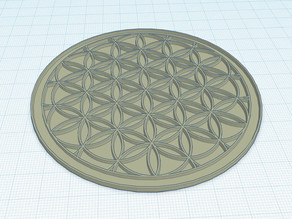 Drink coaster with geometric pattern deepened