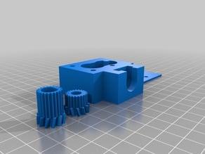 Double geared filament drive for Nema 17