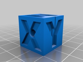 XYZ Calibration Cube - 4mm OD tube cutting jig