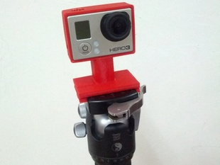 """Hero 3 """"the frame"""" with Arca-Swiss Quick-Release  plate tripod mount"""